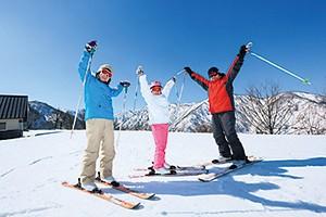 白山セイモアスキー場は、コンパクトでも充分に楽しめます
