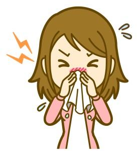 鼻水は鼻の粘膜に付いた花粉を流そうと鼻水が作られるため