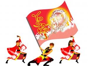 京都さくらよさこいは各会場でよさこい踊りを披露します