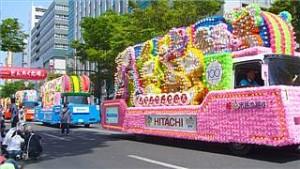 花自動車は博多どんたくの見どころのひとつですよ!