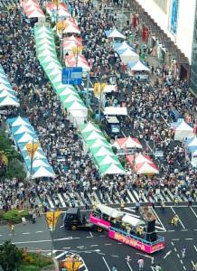 神戸まつりのステージイベントがあちこちで行われます
