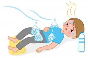 熱中症になったら直ぐに涼しい場所へ移動し水分補給する